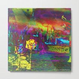 """Otherworld Citrus Rose"" by surrealpete Metal Print"