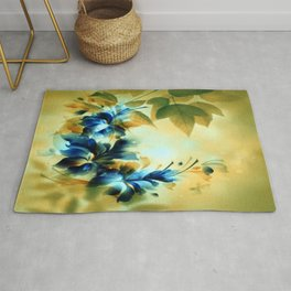 Autumn Evening Floral Abstract Rug