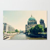 berlin Canvas Prints featuring Berlin by Arevik Martirosyan