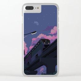 Moonrise twilight Clear iPhone Case