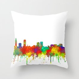 Baton Rouge, Louisiana Skyline - SG Throw Pillow
