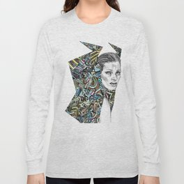 Origami Girl Three Long Sleeve T-shirt