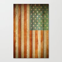 american flag Canvas Prints featuring American Flag by JobiJu