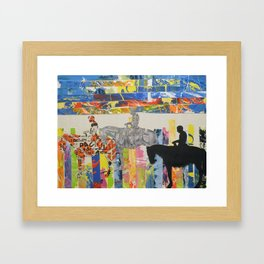 Cowboy Strips Framed Art Print