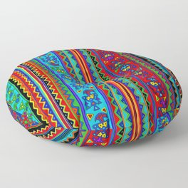 Inca Tribal Pajaros Floor Pillow