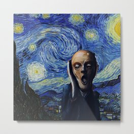 Starry Scream Metal Print