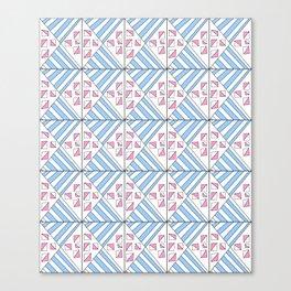 Symetric triangle 7 -vichy, gingham,strip,triangle,geometric, sober,tartan,mandala Canvas Print