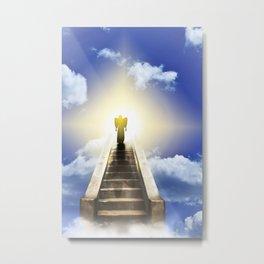 Angel On A Stairway To Heaven Metal Print