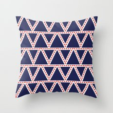 Navy Triangle Pattern Throw Pillow