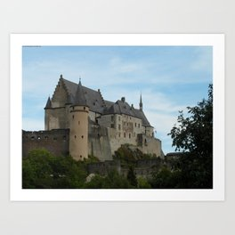 A Castle: Towers and Massive Walls Art Print