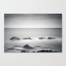 Silver sea Canvas Print
