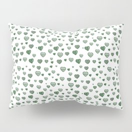 Green Hearts Field Pillow Sham