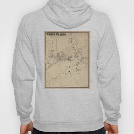 Vintage Map of White Plains NY (1867) Hoody