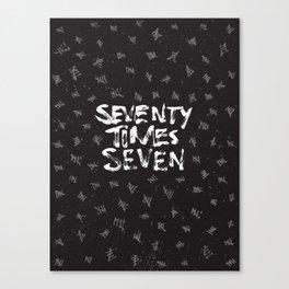 Seventy x Seven Canvas Print