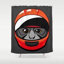 Gibbon Rider Shower Curtain