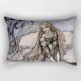 """Arthur Rackham Fairy Art from """"Undine"""" Rectangular Pillow"""