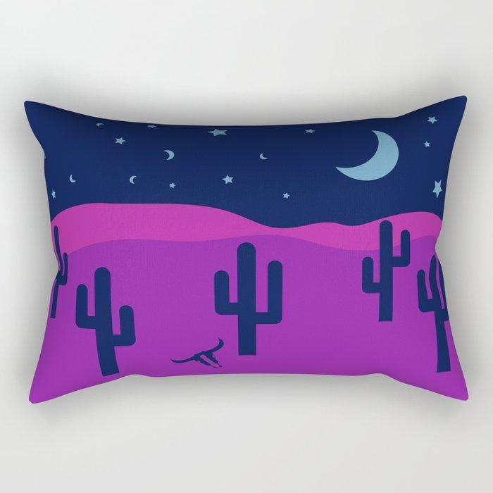Modern Desert Cactus Scene #desert #cactus Rectangular Pillow