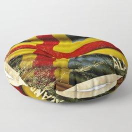 Grunge sticker of Aland Islands flag Floor Pillow