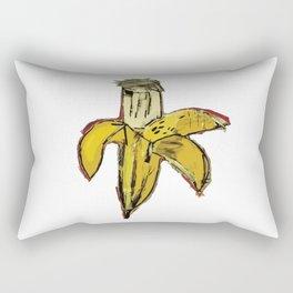 Basquiat Dinosaur Banana Rectangular Pillow
