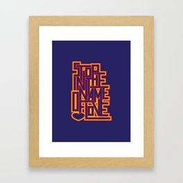 InThe Name Of Love Framed Art Print