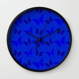 Butterblues Wall Clock