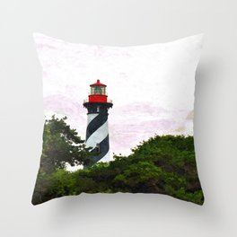 St. Augustine Lighthouse II Throw Pillow