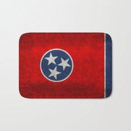 Tennessee State flag, Vintage version Bath Mat