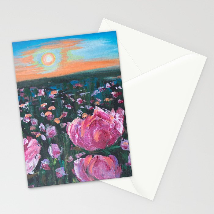 Peonies Stationery Cards