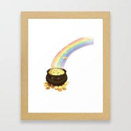Rainbow & Pot of Gold Framed Art Print