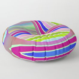 In the colorful focus 1 Floor Pillow