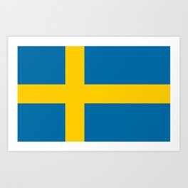 Flag of Sweden - Authentic (High Quality Image) Art Print