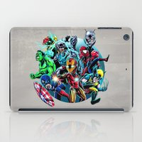super heroes iPad Cases featuring Super Heroes by Carrillo Art Studio