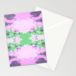 Parana - Abstract Colorful Batik Camouflage Tie-Dye Style Pattern Stationery Cards