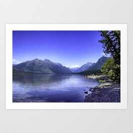 McDonald Lake In Glacier National Park Art Print