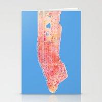 manhattan Stationery Cards featuring Manhattan  by Marta Olga Klara