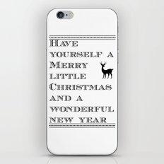 Christmas is near...time flies - Holidaze iPhone & iPod Skin