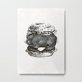 Vintage Hamburger  Metal Print