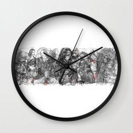 SOLVE et COAGULA.  Triptych. Wall Clock