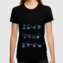 Blue coffee gezve T-shirt
