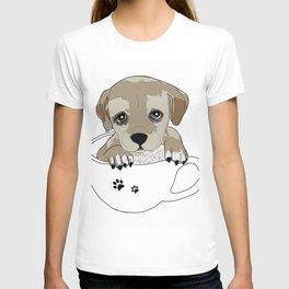 Puppies love coffee too! T-shirt