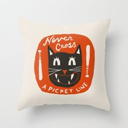 N is for Never Throw Pillow