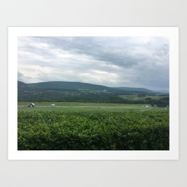 Farm Valley Art Print