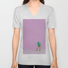 Happy Robot Unisex V-Neck