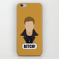 dean winchester iPhone & iPod Skins featuring 1 Dean Winchester by Alice Wieckowska