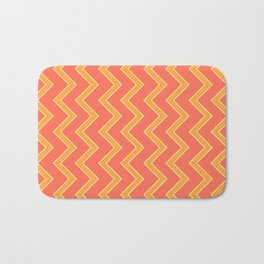 033 Abstract white, light orange and orange art for home decoration Bath Mat