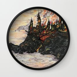 Battle of Hogwarts Wall Clock