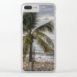 Palm tree & Boat Clear iPhone Case