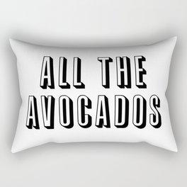 All The Avocados Rectangular Pillow
