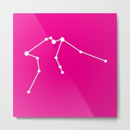 Aquarius (White & Magenta) Metal Print