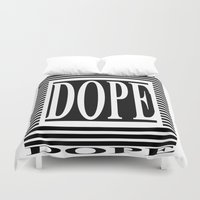 dope Duvet Covers featuring DOPE  by Robleedesigns